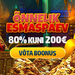 Igal esmaspäeval boonus 80% kuni 200€